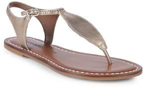Bernardo Women's T-Strap Leather Sandals