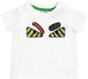 Fendi Monster Patch Cotton Jersey T-Shirt