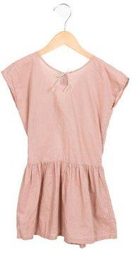 Emile et Ida Girls' Sleeveless Bow-Accented Dress