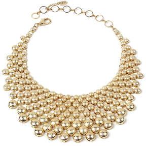 Amrita Singh Frosted Goldtone Bib Necklace