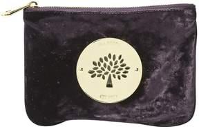 Mulberry Velvet clutch bag