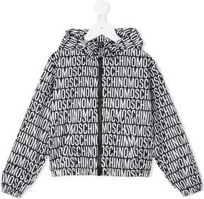 Moschino Kids teddy logo print rain jacket