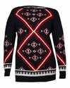 Lauren Ralph Lauren Women's Geometric Print Sweater (XL, Black Multi)