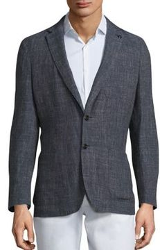 Michael Kors Textured Wool-Blend Blazer