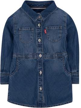 Levi's Toddler Girls Acid Wash Lightweight Denim Dress