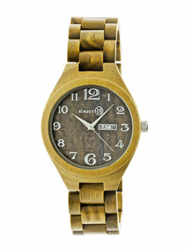 Earth Wood Sapwood Unisex Green Bracelet Watch-Ethew1604