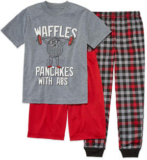 Arizona 3-pc. Waffles Pajama Set Boys-Husky