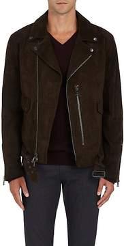 John Varvatos Men's Suede Biker Jacket