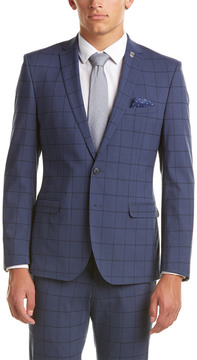 Nick Graham Modern Fit Suit With Flat Pant