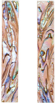 Christopher Kane Pink Pearl Narrow Sheet Earrings