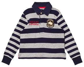 Joules Navy and Grey Branded Rugby