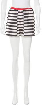 Clover Canyon Striped Mini Shorts