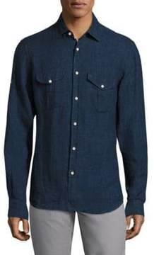 Saks Fifth Avenue COLLECTION Long Sleeves Linen Shirt