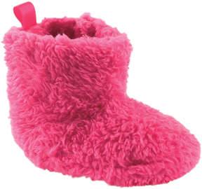Luvable Friends Dark Pink Sherpa Bootie - Infant