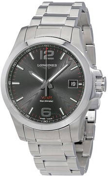 Longines Conquest V.H.P. Perpetual Black Dial Men's Watch