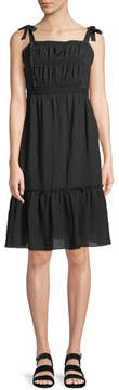 Cupcakes And Cashmere Tie-Shoulder Sleeveless Pleated Dress