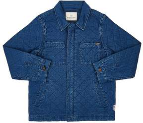 Scotch Shrunk QUILTED COTTON CHAMBRAY SHIRT JACKET