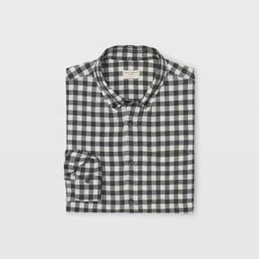 Club Monaco Buffalo Plaid Crinkle Shirt