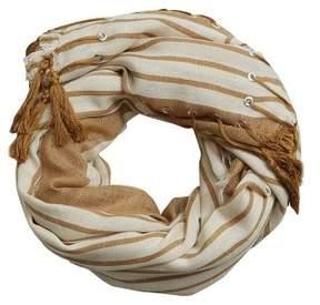 Violeta BY MANGO Tassels stripes foulard