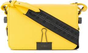 Off-White foldover clip shoulder bag