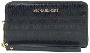 Michael Kors Black Jet Set Travel Leather Smartphone Wristlet - BLACK - STYLE