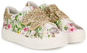 MonnaLisa glitter panel sneakers