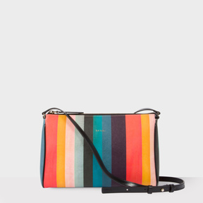 Women's 'Artist Stripe' Calf Leather Pochette