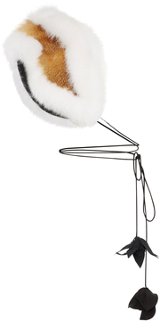 Marni White Fox Fur Stole