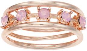 Lauren Conrad Simulated Crystal Ring Set