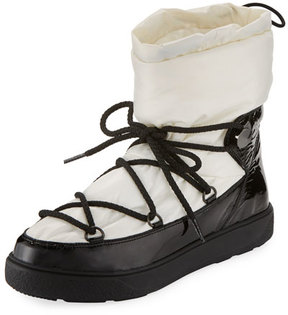 Moncler Ynnaf Lace-Up Drawstring Snow Boot