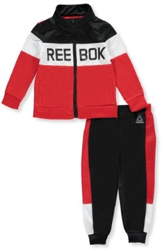 Reebok Little Boys' Toddler Tricot Tracksuit (Sizes 2T - 4T) - metallic silver/amparo blue, 3t