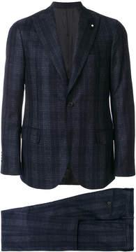 Lardini checked dinner suit