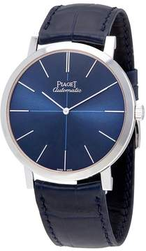 Piaget Altiplano Blue Dial Blue Leather Men's Watch