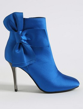 Marks and Spencer Stiletto Side Zip Bow Ankle Boots