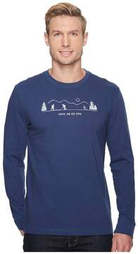 Life is Good Pond Hockey Long Sleeve Crusher Tee Men's T Shirt