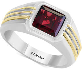 Effy Men's Rhodalite Garnet Two-Tone Ring (3 ct. t.w.) in Sterling Silver & 14k Gold