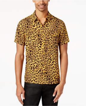GUESS Men's Leopard-Print Shirt