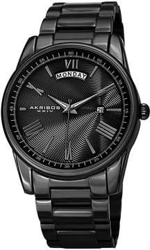 Akribos XXIV Mens Black Strap Watch-A-1039bk