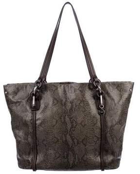 Tumi Leather-Trimmed Embossed Tote