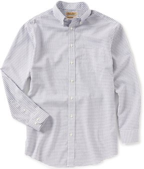 Roundtree & Yorke Gold Label Big & Tall Long-Sleeve Checked Non-Iron Sportshirt