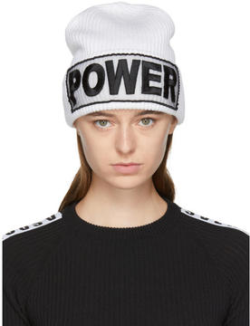 Versace White Power Beanie