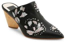 Dolce Vita Asia Beaded Leather Mules