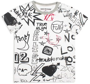 True Religion Boys' Fun Sketches Tee - Big Kid