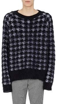 Haider Ackermann Men's Houndstooth Mohair-Silk Oversized Sweater