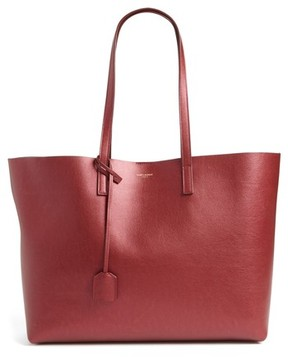 Saint Laurent East/west Leather Tote With Zip Pouch - Burgundy - BURGUNDY - STYLE