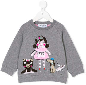 Simonetta girl print sweatshirt