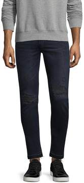 BLK DNM Men's Tattered Slim Fit Jeans