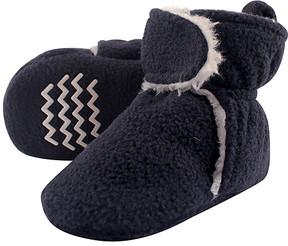 Hudson Baby Navy Fleece Nonskid Booties - Boys