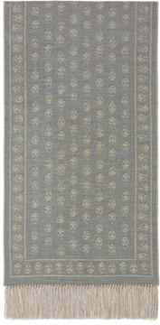 Alexander McQueen Grey and Gold Large Upside Down Skull Scarf