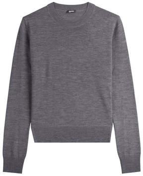 Jil Sander Navy Layered Wool Pullover